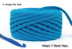 Southwestern Flavor. Turquoise Blue T Shirt Yarn Recycled 33 Yards by MikesTShirtYarn