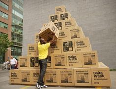 """IKEA in Quebec & Leo Burnett Toronto won a North American Gold Effie for """"Moving Day"""", an ambient marketing / Guerrilla Marketing campaign. Moving Day, Moving Tips, Moving House, Free Moving Boxes, Moving Checklist, Media Campaign, Guerilla Marketing, Advertising, Ads"""