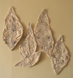 improvised stitched drawings by Danny W. Mansmith, via Flickr