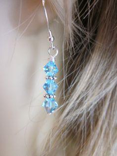 Sterling silver Swarovski crystal earrings  by AlwaysPrettyThings, $16.20