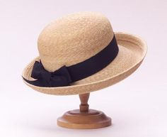 This is the children's version of our classic leghorn 'Sconset hat. This hat comes with a wide hand-tied black ribbon. Pebble Beach Concours, Fascinators, Black Ribbon, Grosgrain, Scarves, Charlotte, Gloves, Studio, Hats
