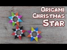 Origami Christmas Star Tatiana Frolova | How To Make A Christmas Flower Tutorial | DIY Paper Hobby - YouTube