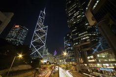 Central At Night, Hong Kong