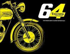 Bike Poster, Motorcycle Posters, Motorcycle Art, Bike Art, Triumph Bonneville, Vintage Bikes, Vintage Motorcycles, Retro Bike, Shops