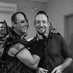 Such a sweet picture!! How can you not smile at this and forget all your problems?   #michaelpoulsen #jerryonly #volbeat