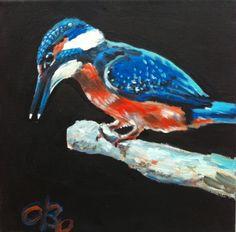 Kingfisher, 20 x 20 cm, acrylic