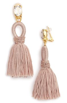 Oscar de la Renta Silk Tassel Drop Earrings