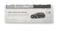 Reverse April Fools'   BMW April Fools Day Free Car Press Ad Stunt   Award-winning Direct Response/Press & Poster   D&AD