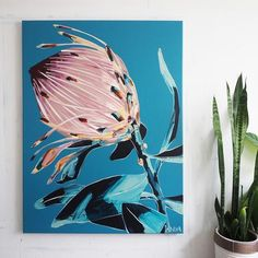 PROTEA PREVIEW – Anya Brock Paint Pens, Pictures To Paint, Home Wall Art, Watercolor Flowers, Art Inspo, Cool Art, Original Paintings, Abstract Art, Artsy