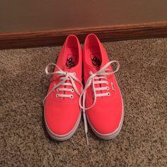 BRAND NEW WOMEN'S VANS BEST OFFER!! Brand new and never worn, hot pink, size 8 women's/6.5 men's Vans Shoes Sneakers