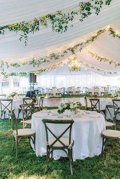 Backyard Tent Wedding, White Tent Wedding, Backyard Wedding Decorations, Prom Decor, Outdoor Tent Party, Outdoor Events, Tent Reception, Outdoor Wedding Reception, Marquee Wedding