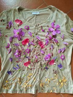 Tingere con i fiori sulla stoffa !   BLOSSOM ZINE BLOG