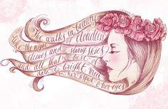 She Walks in Beauty by Biljana Kroll, via Behance