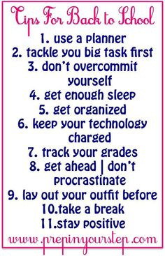 To School Tips- Dorothy makes some great reminders about how to stay on top of your game with school in session!Back To School Tips- Dorothy makes some great reminders about how to stay on top of your game with school in session! High School Hacks, Life Hacks For School, School Study Tips, Back To School Tips, Middle School Hacks, Back To School Ideas For Teens, Back To School Organization For Teens, Back To School Essentials, Prep School