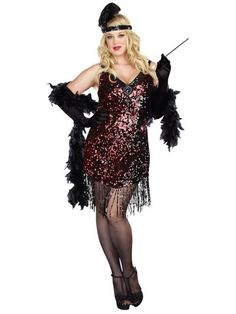 You'll be ready for any speakeasy in this Dames Like Us Sexy Plus Size Costume.