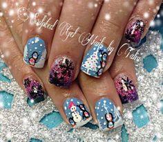 Adorable winter scene nails