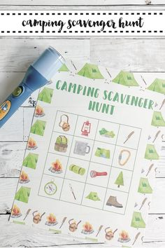 Host a fun scavenger hunt at your camping party with this free printable from Everyday Party Magazine #ScavengerHunt #TreasureHunt #EverydayPartyMagazineShop
