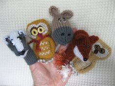 Under the Moonlight Animal Finger Puppets ... Badger, Fox, Owl, Deer by Lindsay Mudd