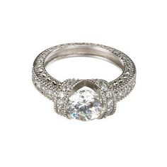 Crystal Sterling Silver Estate Ring ($40) ❤ liked on Polyvore
