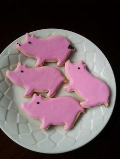 Pink Pig Cookies Baby Pinterest Pig Cookies Cookie Decorating
