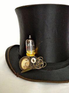light up steampunk brooch