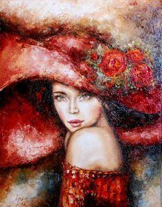 Woman-canvas pintura al óleo                                                                                                                                                                                 Más