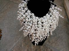 Flowing Pearls Super Chunky Choker Statement Necklace! by BlingBeadedBaubles, $145.00 USD