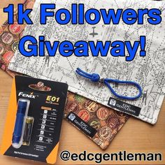 I'm always down for a giveaway! #Repost @edcgentleman  Looks like I rolled right past that 1000 followers mark so it must be time for another giveaway! I've got a couple of great handkerchiefs a skull lanyard bead and a Fenix EO1 to giveaway to one lucky winner. You all know the drill: must be following me repost this image tag me and add the hashtag #edcgentleman1k so I can find the post. I'll pick a winner on Tuesday 1/31. No private accounts no giveaway accounts. I'll pay shipping…