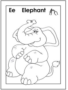 find this pin and more on angielski elephant coloring pages