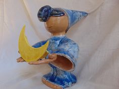 #lamp #ceramic sculpture Handmade hand painted by Elvira Peduto (Vietri Sul Mare) visit our #shop on #Etsy www.pulcinellaceramics.etsy.com
