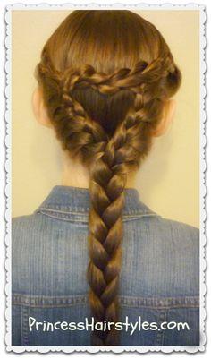 Heart braid hairstyle tutorial
