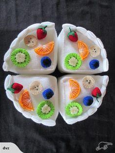 A cute felt pavlova. #felt #toys #pavlova