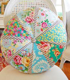 Fabric Yo-Yo Project Gallery   sis-boom-light-blue