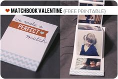 Intagram Matchbook Valentine Free Printable and many more Valentine's Day DIY goodies...
