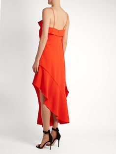 Click here to buy Jonathan Simkhai Ruffled bias-cut stretch-crepe dress at MATCHESFASHION.COM