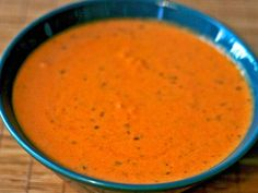 Nordstrom's Tomato Basil Soup. Seriously the best tomato basil soup I've made….and very, very, very close to the original!