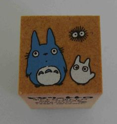 Studio Ghibli My Neighbour Totoro With Baby Totoro And Dust Mite Japanese Rubber Stamp. $5.95, via Etsy.
