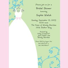 Bridal Shower Invitations Should Be Mailed Eight Weeks Before The Bridal  Shower, Giving Guests Plenty  Bridal Shower Invitation Samples