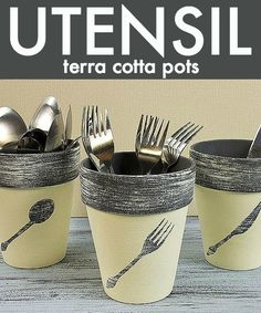 Terracotta Pots painted with Americana Decor Chalky Finish paint - DIY Homer Clay Pot Projects, Clay Pot Crafts, Diy Projects, Painted Clay Pots, Painted Flower Pots, Terra Cotta, Chalky Finish Paint, Clay Pot People, Terracotta Flower Pots