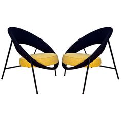 Saturn Chairs by Genevieve Dangles and Christian Defrance ca.1950's   From a unique collection of antique and modern lounge chairs at https://www.1stdibs.com/furniture/seating/lounge-chairs/