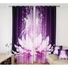 Fialový záves - kvet - My site Prints, 3d, Bedding, Blinds, Beds, Home