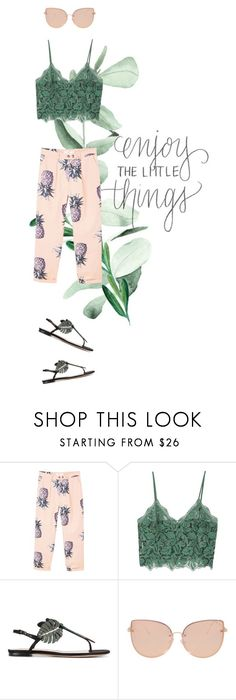 """""""Enjoy the little things"""" by ilaria-bonaguro ❤ liked on Polyvore featuring MANGO, Valentino and Topshop"""