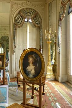A portrait of the princesse de Lamballe which is currently being displayed at the Grand Trianon for the Ladies of the Trianon exhibit. Photo by elsie esq. on Flickr