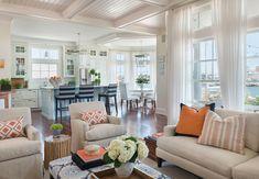 Open Concept Kitchen Family Room. Open concept interiors. Open concept kitchen, dining room and family room. #OpenConceptKitchen #OpenConcept   Kate Jackson Design.