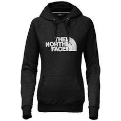 North Face Avalon Pullover Hoodie Womens CZZ4-KY4 Black White Logo Hoody Size XL