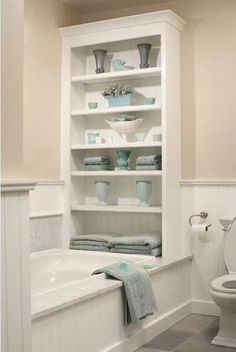 I want to do this as a built in in my master bathroom