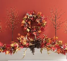 wreath fall decorations pinterest