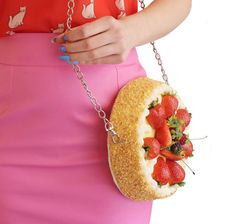 Strawberry cake clutch by rommydebommy on Etsy