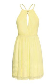Pliseerattu mekko - Vaaleankeltainen - Ladies | H&M FI