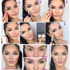 .@makeupbyevon | A quick pic tutorial How I set my under eye concealer using @Sophia Thomas oranje Cosmetics pho...